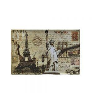 Placa metalica Traveler poster vintage