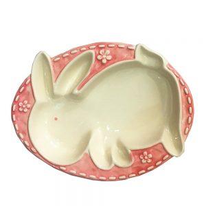 Platou iepure Easter Bunny ceramica 14x19cm