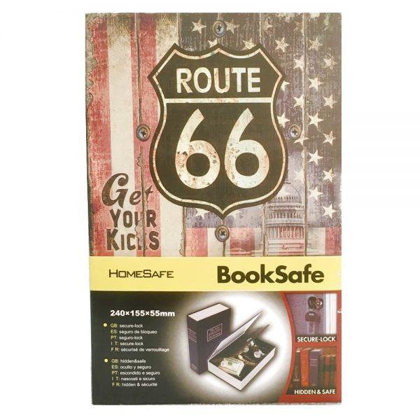 Carte seif Route 66 Booksafe metal, 16x24cm
