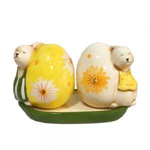 Solnita sare piper Easter Eggs ceramica