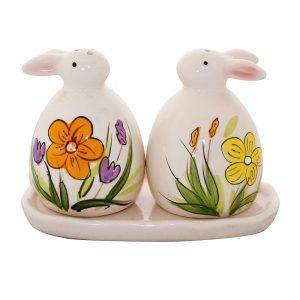 Solnita sare piper Lucky Rabbit ceramica