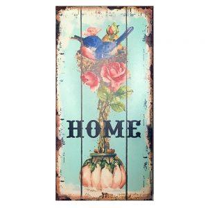 Tablou lemn Home vintage 14x29cm