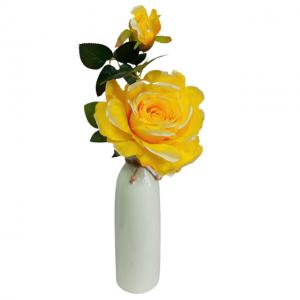 Trandafir galben artificial Yellow Rose 40cm