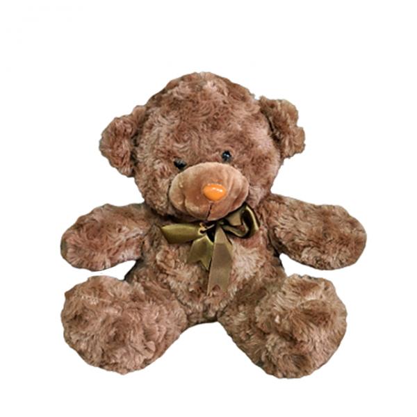 Ursulet de plus maro Fuzzy Bear 25cm