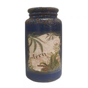 Vaza ceramica Antique albastru vintage 22cm