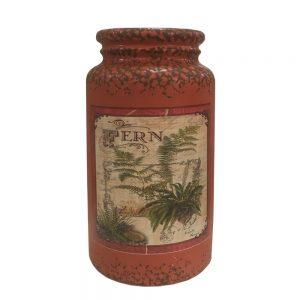 Vaza ceramica Antique caramiziu vintage 22cm