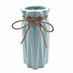 Vaza ceramica Leslie bleu 18cm