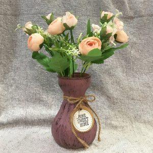 Buchet bujori roz artificiali Florence