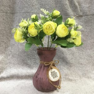 Buchet bujori Florence flori artificiale 26cm