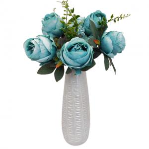 Buchet trandafiri artificiali bleu-turcoaz Paulette
