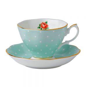 Ceasca de cafea cu farfurie Royal Louise portelan