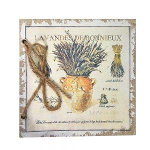 Agenda / jurnal retro Shabby Lavender 17x17cm