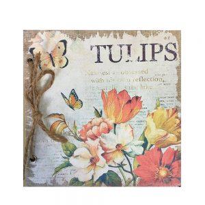 Agenda / jurnal retro Shabby Tulipe 17x17cm
