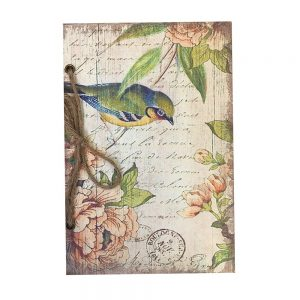Jurnal retro Shabby Bird scrapbook 14x21cm