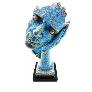 Statueta masca albastra No Hear vintage