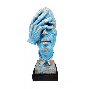 Statueta masca albastra No See vintage