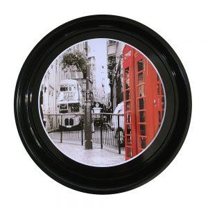 Tava rotunda Telephone metal 33cm