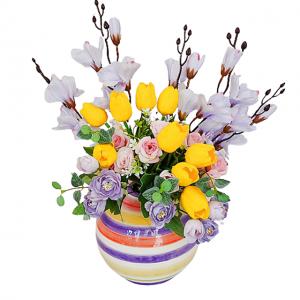 Aranjament flori Oprah 40cm vaza ceramica