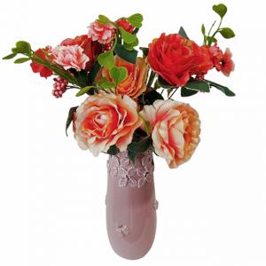 Buchet trandafiri artificiali Coral Amelie