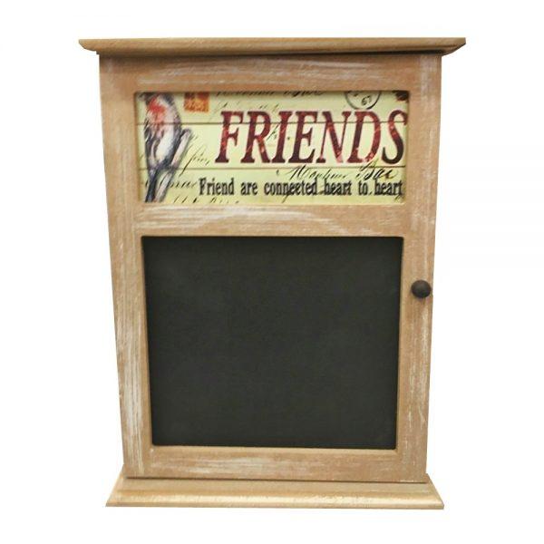 Cutie chei Friends vintage lemn 19x25cm
