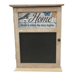 Cutie chei Home vintage lemn 19x25cm