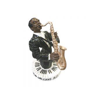 Statueta saxofonist Lester 16cm