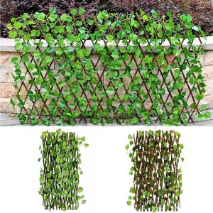 Gard artificial frunze Patio extensibil 100x180cm