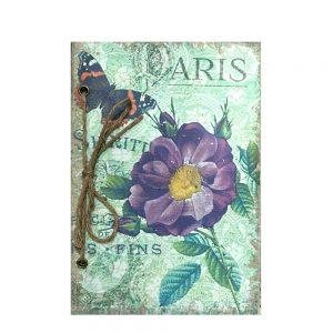 Jurnal retro Shabby Paris scrapbook 14x21cm