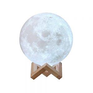 Lampa luna 3D Moonlight Touch alba