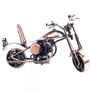 Motocicleta metal Rider miniatura 15x6x7.5cm
