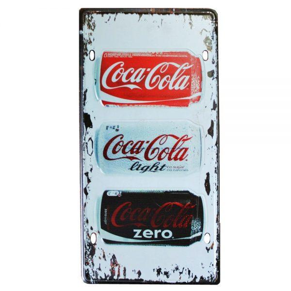 Placa metalica Coca Cola poster vintage