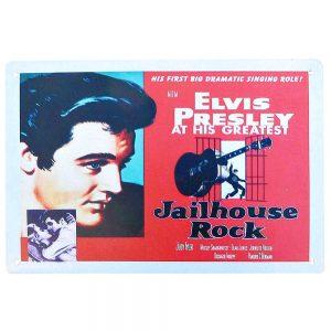Placa metalica Elvis Presley poster vintage