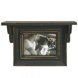Rama foto 15x10cm Charles negru vintage