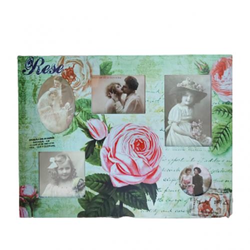 Rama foto multipla Pink Roses 43x33cm retro