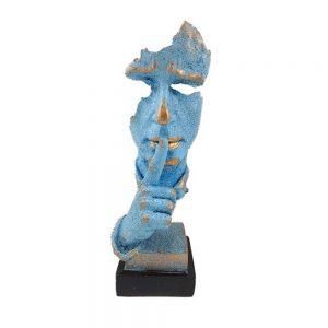 Statueta masca albastra No Say vintage 35cm
