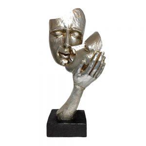Statueta cuplu Adorable argintie vintage 30cm