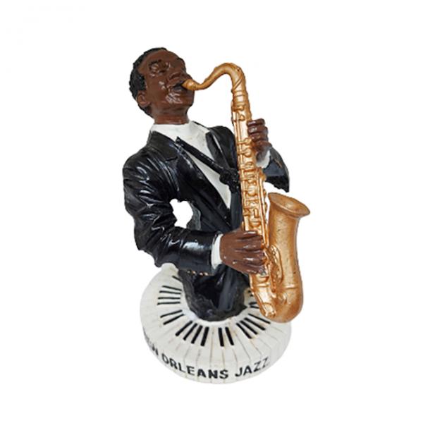 Statueta saxofonist Lester rasina 16cm