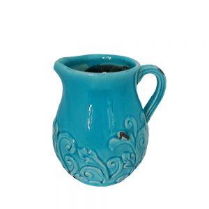 Vaza ceramica Bellamy albastra 20cm Carafa Vintage