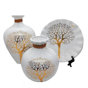 Set 2 vaze & farfurie Geraldine ceramica