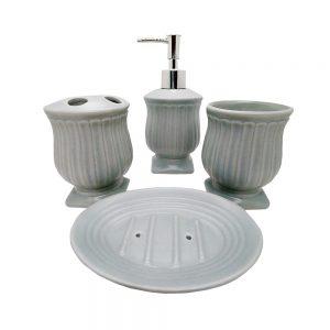 Set accesorii baie Memories bleu ceramica