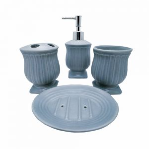 Set de baie Retro Touch bleu ceramica