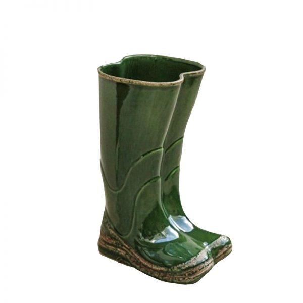 Suport de umbrele Country ceramica verde