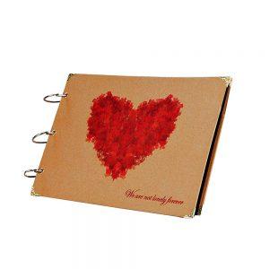 Album foto retro Red Heart scrapbook