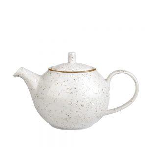 Ceainic ceramica Charles alb vintage 420ml