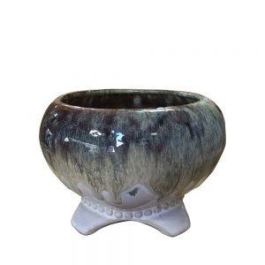 Ghiveci ceramica Elise albastru 13cm