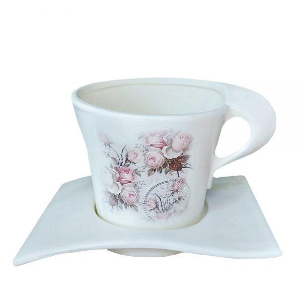 Ghiveci ceramica Josephine cu farfurie