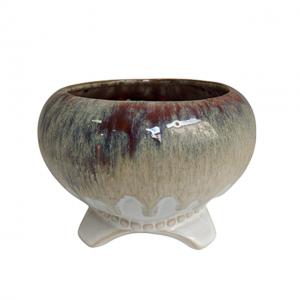 Ghiveci ceramica Sea Touch albastru 13cm