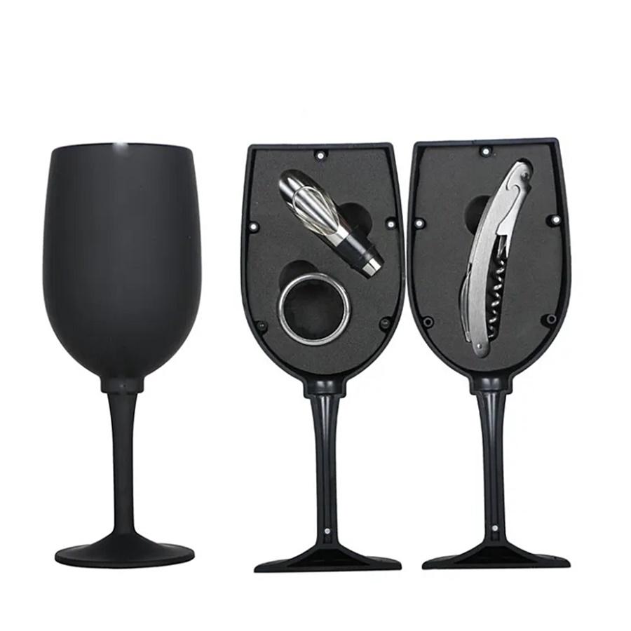 Pahar cu 3 accesorii vin Toscany