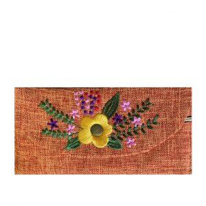 Portofel portocaliu Theodora textil 18cm