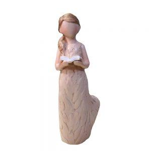 Statueta fetita citind Nancy rasina 14cm